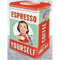 Ge bort en retro kaffeburk i julklapp till kaffeälskare