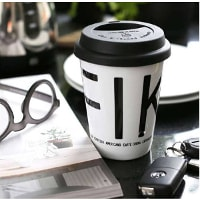 Take away-mugg med texten FIKA