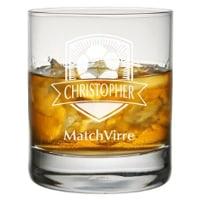 Whiskyglas med gravyr