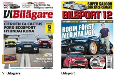Prenumeration på tidningar inom bilsport