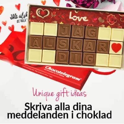 Choklad med personligt meddelande