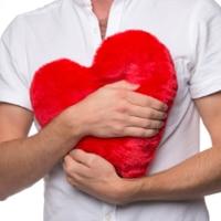 Vetekudde i form av hjärta