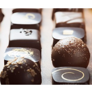 Romantisk med chokladprovning för två