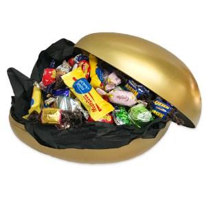 Ett stort påskägg Jumbo i guld