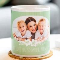 Kaffemugg med foto som personlig present till henne