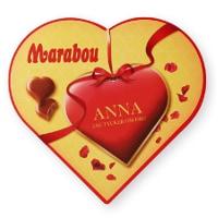 Present till henne med choklad med personligt meddelande