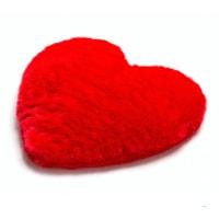 Vetekudde i form av hjärta som romantisk present
