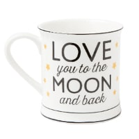 Kaffemugg - Love you to the moon and back som romantisk present