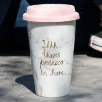 Take away-mugg - Shhh… There's prosecco...