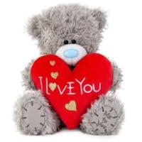 Nalle med rött hjärta I Love You