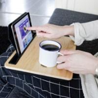 iBed, iPad bricka och ställ i trä